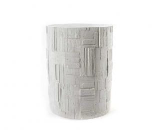 Liz White Waste Bin for House Decoration 19 x 19 x 24.5 cm