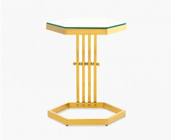 Abel End Table Gold