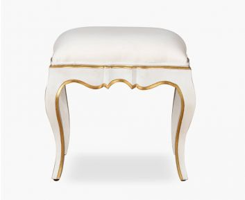 Alaine Off White Stool for House Decoration