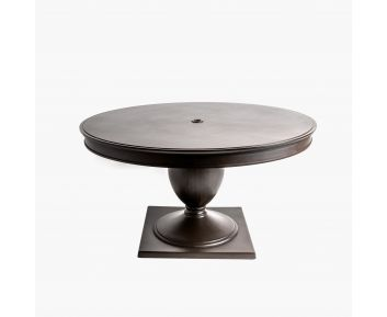Alfresco Round Dining Table brown