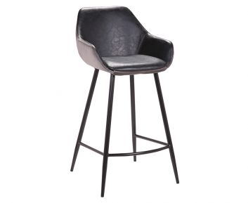Leona Bar stool in Grey for House Decoration 50 x 48 x 95 cm