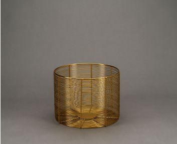 Set of 3 Remy Baskets in Brass for Modern Decor