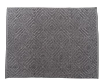 Elegant Grey Bathmat for Bathroom Decoration 60 x 90 cm