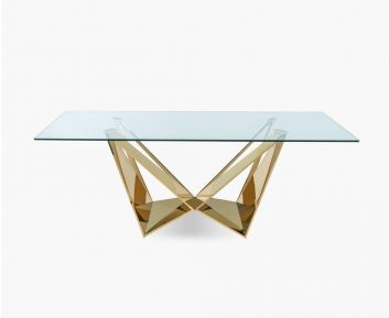 Briella Dining Table Gold