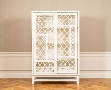 Agatha Cabinet in Antique White for House Decoration