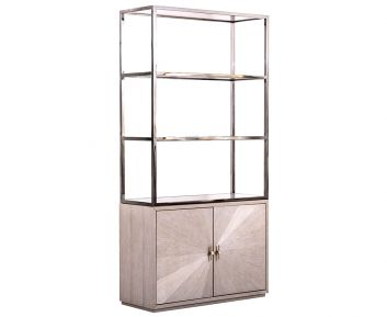 Rowan Tall Decorative Cabinet in Beige Colour 100x40x200cm