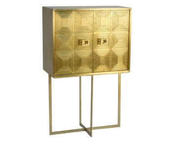 Rocco Brass Gold Cabinet for House Decoration
