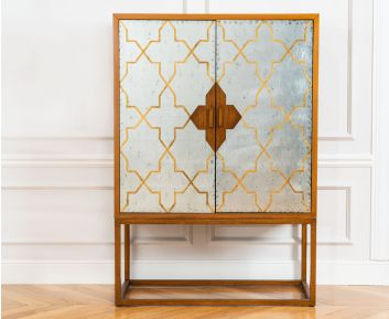 Boudoir Cabinet in Brown for House Decoration