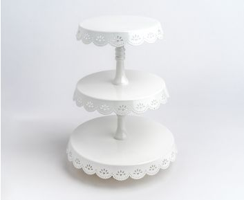 Cake Holder in White for your Dining table setting