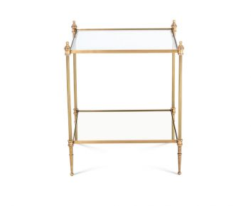 Casey End Table Antique Brass
