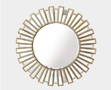 Cecille Mirror in Antique Silver for House Decoration