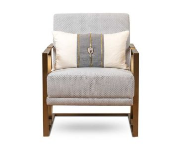 Lexus Casual Chair in Beige for House Decoration