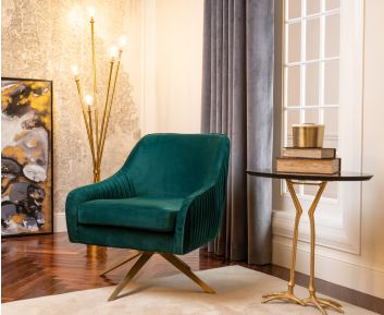 Maxwell Casual Chair in Green for House Decoration