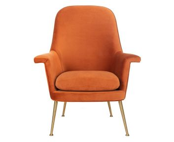 Kendall Chair in Light Orange to Complete Home Furniture