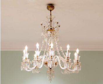 Chandelier in Matt Brass Ideal for House Decoration
