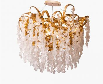 White Gold Chandelier for Home Decor