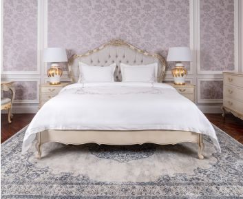 Claudia Bed 180X200 White-Gold