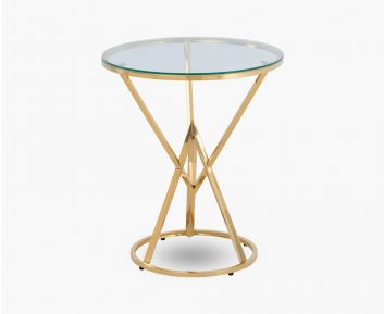 Cody End Table Gold