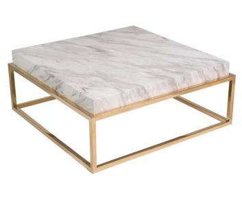 Balbina Gold Coffee Table 100x100x40cm