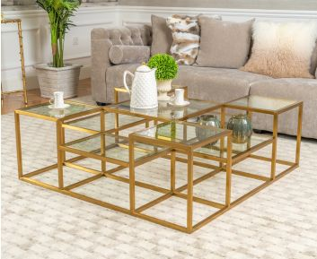 Matrix Gold Coffee Table for House Decoration