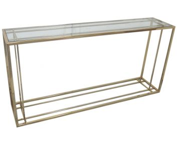Gold Console with Glass to Complete Home Furniture