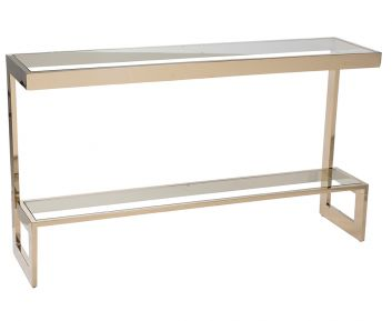 Jaylee Console in Gold to Complete Home Furniture