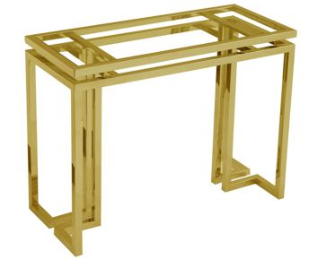Beatrix Console in Gold to Complete Home Furniture