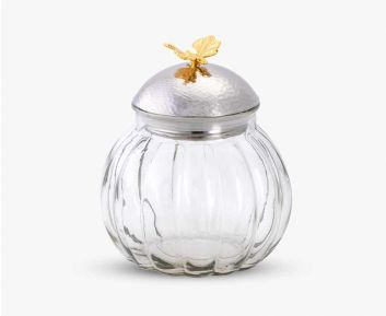 Classy Gold Silver Container for House Decoration