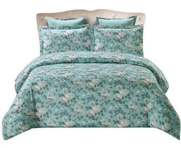 Set Of Multicolor Kristie Design Super King Size Duvet Cover
