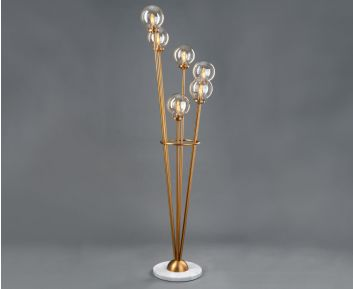 Amber Matt Gold Floor Lamp for House Decoration