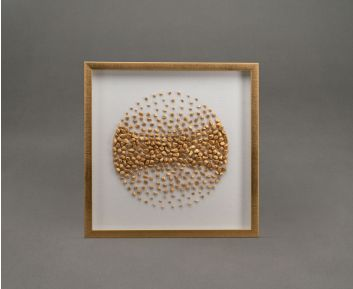 Gold Stone Shadow Box Frame For Ideal House Decoration