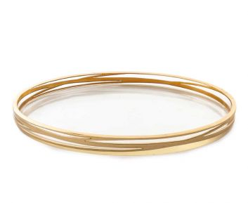 Giselle Gold Tray for Bathroom Decoration 29 x 16.5 x 2.5 cm