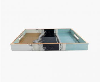 Glam Rectangle Tray Multi-Colour