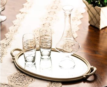 Glass Decanter in Clear Apt for Table Setting