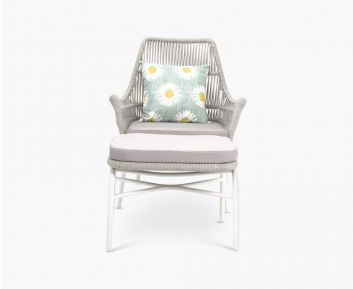 Gracie chair with stool white