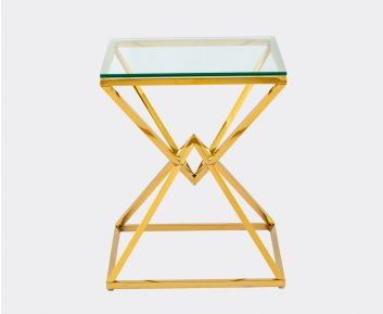 Helix End Table IN Gold for House Decoration