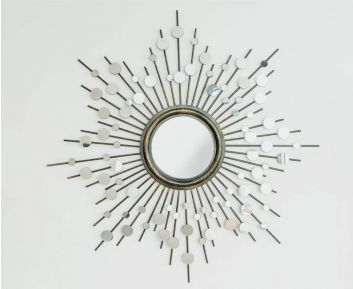 Herbert Mirror in Gold for House Decoration