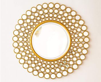 Ivan Mirror in Gold for House Decoration