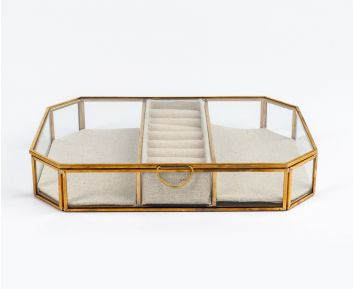 Gold Jewellery Box for House Decoration 36 x 16.7 cm