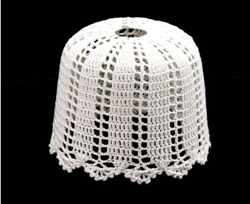 Lovely Knitted Lamp Shade in White