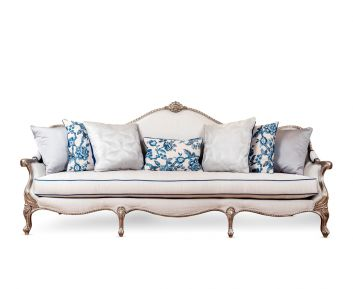 Leilani New 4-Seater Sofa in Grey Blue to Enhance Home Decor