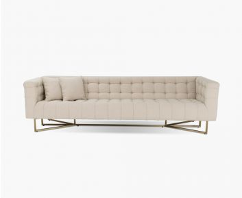 Limoges 3 Seater gold