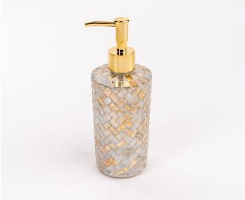 Gold color Lotion bottle or dispenser for Bathroom Necessities 7.0 x 7.0 x 20.5 cm