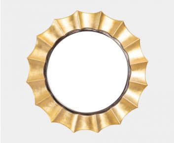 Decorative Mirror in Gold for Bedroom Wall Decor