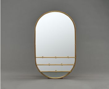 Light Gold Oval Mirror for Classy Home Decor