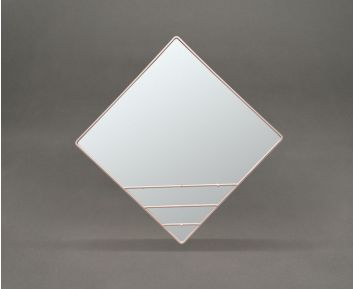 Light Pink Rhombus Mirror for Stylish Home Decor
