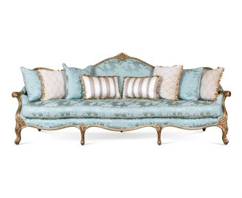 New Savanah 4-Seater Sofa in Light Blue to Complete Home Furniture
