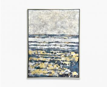 Oil Paint Abstract Blue-Gold 155X205Cm