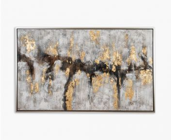 Oil Paint Abstract Natural-Gold 125x205cm