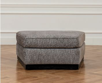 Emery Grey Ottoman for House Decoration